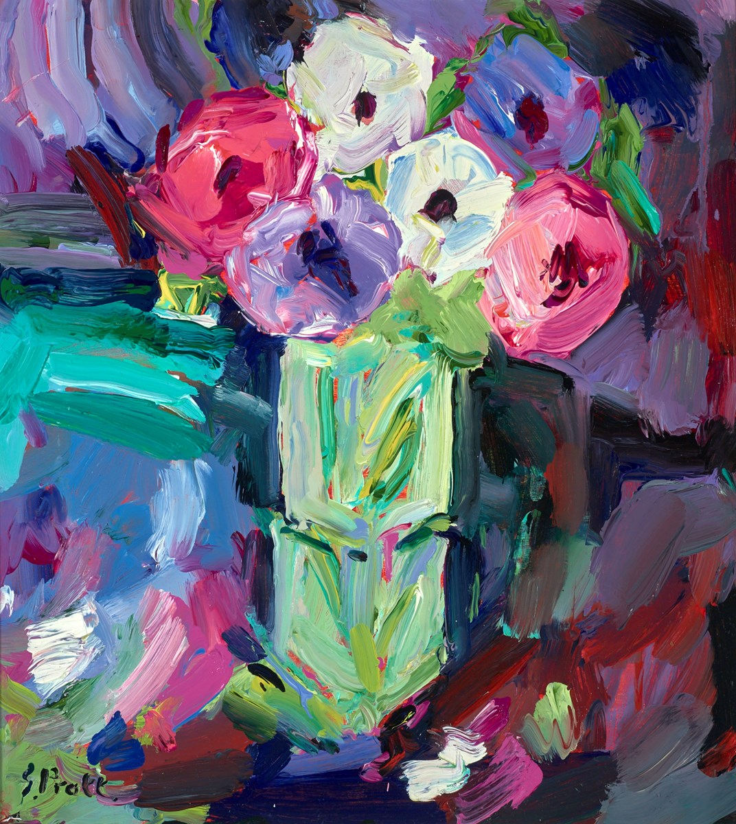 Cornish Anemones by jeffrey pratt -  sized 19x21 inches. Available from Whitewall Galleries